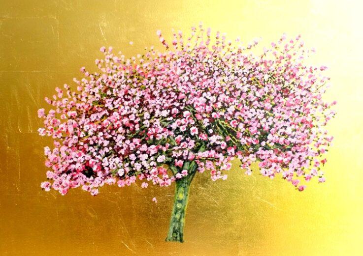 Jack Frame Golden Blossom Poster